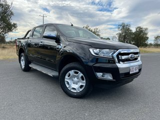 2018 Ford Ranger PX MkII 2018.00MY XLT Double Cab Black 6 Speed Manual Utility.