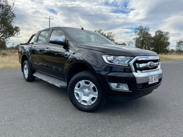Used Ford Ranger PX MkII 2018.00MY XLT Double Cab Emerald, 2018 Ford Ranger PX MkII 2018.00MY XLT Double Cab Black 6 Speed Manual Utility