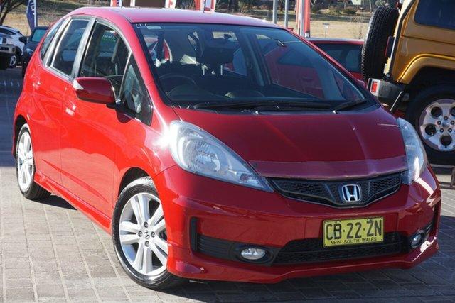 Used Honda Jazz GE MY13 Vibe-S Phillip, 2013 Honda Jazz GE MY13 Vibe-S Red 5 Speed Automatic Hatchback