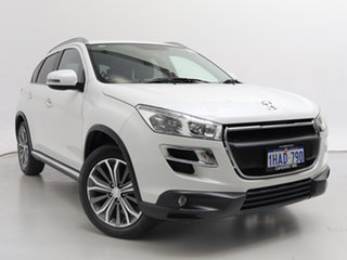 2014 Peugeot 4008 MY14 Upgrade Active (4x2) White 6 Speed CVT Auto Sequential Wagon.