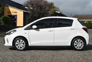 2015 Toyota Yaris NCP130R Ascent White 5 Speed Manual Hatchback