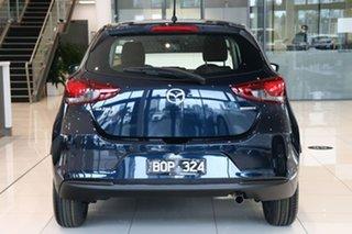 2021 Mazda 2 DJ2HAA G15 SKYACTIV-Drive Pure Deep Crystal Blue 6 Speed Sports Automatic Hatchback