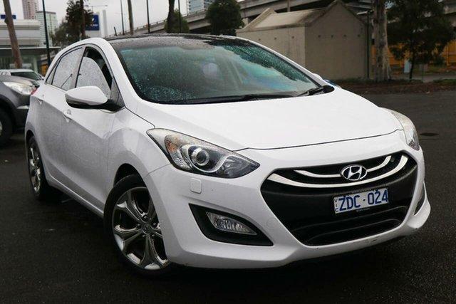Used Hyundai i30 GD Premium South Melbourne, 2012 Hyundai i30 GD Premium Creamy White 6 Speed Sports Automatic Hatchback