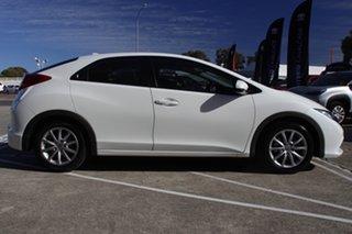 2013 Honda Civic 9th Gen MY13 VTi-S White 5 Speed Sports Automatic Hatchback