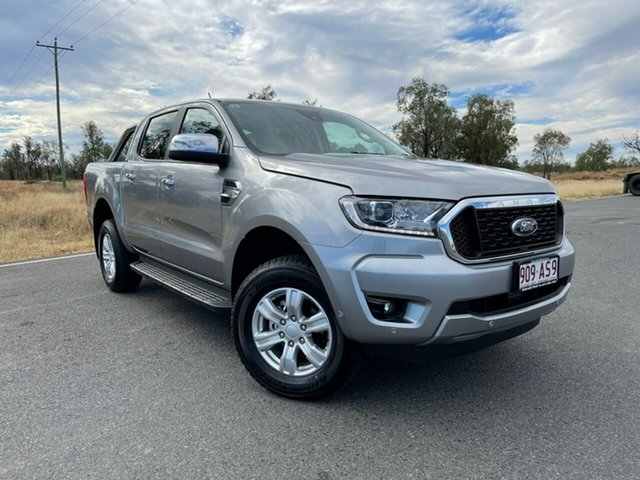 Used Ford Ranger PX MkIII 2021.25MY XLT Emerald, 2021 Ford Ranger PX MkIII 2021.25MY XLT Aluminium Silver 6 Speed Sports Automatic Double Cab Pick Up