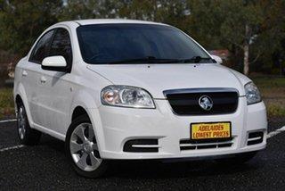 2009 Holden Barina TK MY09 White 4 Speed Automatic Sedan.
