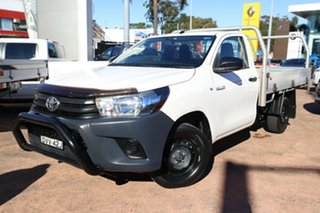 2018 Toyota Hilux TGN121R MY17 Workmate White 5 Speed Manual Cab Chassis.