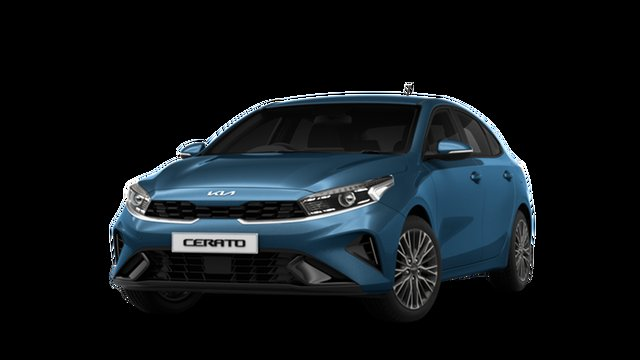 New Kia Cerato BD MY22 Sport+ St Marys, 2021 Kia Cerato BD MY22 Sport+ Mineral Blue 6 Speed Sports Automatic Hatchback