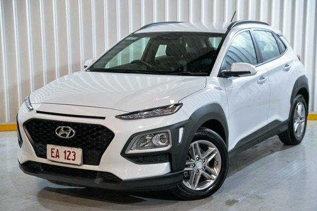 Used Hyundai Kona OS.2 MY19 Active 2WD Hendra, 2018 Hyundai Kona OS.2 MY19 Active 2WD White 6 Speed Sports Automatic Wagon
