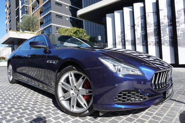 Used Maserati Quattroporte M156 East Brisbane, 2018 Maserati Quattroporte M156 No Badge Blu Passione 8 Speed Sports Automatic Sedan