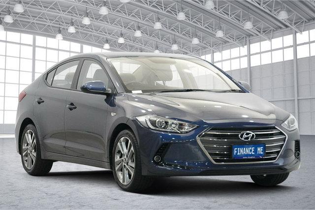 Used Hyundai Elantra AD MY18 Trophy Victoria Park, 2018 Hyundai Elantra AD MY18 Trophy Dark Blue 6 Speed Sports Automatic Sedan