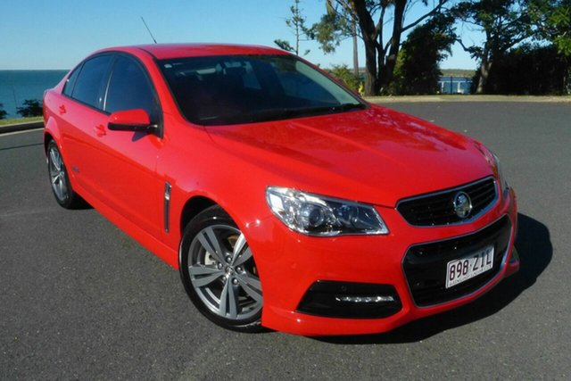 Used Holden Commodore VF MY15 SS Gladstone, 2015 Holden Commodore VF MY15 SS Red 6 Speed Manual Sedan