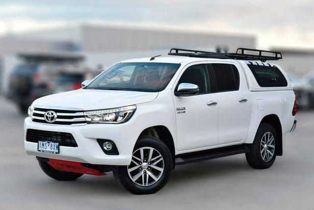 Used Toyota Hilux GUN126R SR5 Double Cab Pakenham, 2018 Toyota Hilux GUN126R SR5 Double Cab White 6 Speed Sports Automatic Utility