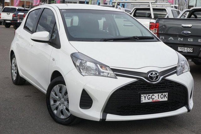 Used Toyota Yaris NCP130R Ascent Phillip, 2016 Toyota Yaris NCP130R Ascent White 4 Speed Automatic Hatchback