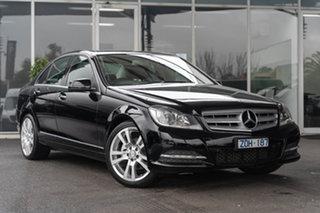 2012 Mercedes-Benz C250 W204 MY12 Avantgarde BE Black 7 Speed Automatic G-Tronic Sedan.