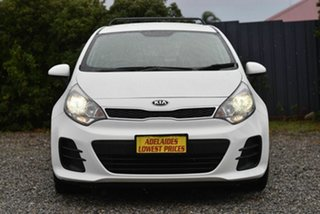 2015 Kia Rio UB MY16 S White 4 Speed Sports Automatic Hatchback.