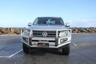2011 Volkswagen Amarok 2H MY12 TDI400 4Mot Trendline Silver 6 Speed Manual Utility.