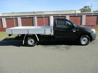 2008 Toyota Hilux TGN16R MY08 Workmate 4x2 Black 5 Speed Manual Cab Chassis.