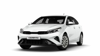 2021 Kia Cerato BD MY22 S Clear White 6 Speed Sports Automatic Hatchback