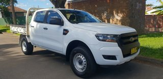 2017 Ford Ranger PX MkII MY17 Update XL 2.2 Hi-Rider (4x2) White 6 Speed Automatic Crew Cab Chassis.