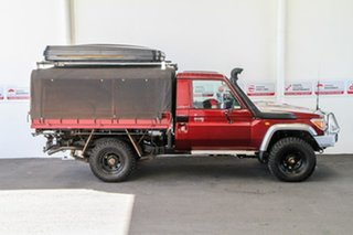 2012 Toyota Landcruiser VDJ79R 09 Upgrade GXL (4x4) Merlot Red 5 Speed Manual Cab Chassis