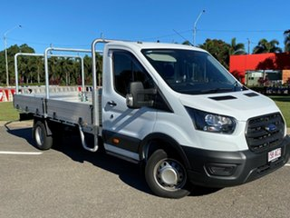 2020 Ford Transit 430E Frozen White 10 Speed Automatic Single Cab Cab Chassis.