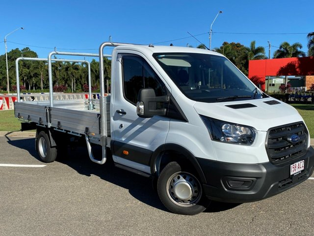 Used Ford Transit 430E Townsville, 2020 Ford Transit 430E Frozen White 10 Speed Automatic Single Cab Cab Chassis