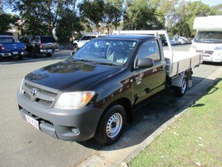2008 Toyota Hilux TGN16R MY08 Workmate 4x2 Black 5 Speed Manual Cab Chassis
