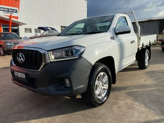 2019 LDV T60 SK8C Pro White 6 Speed Manual Cab Chassis.