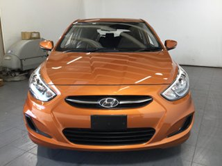 2016 Hyundai Accent RB4 MY16 Active Orange 6 Speed Constant Variable Hatchback