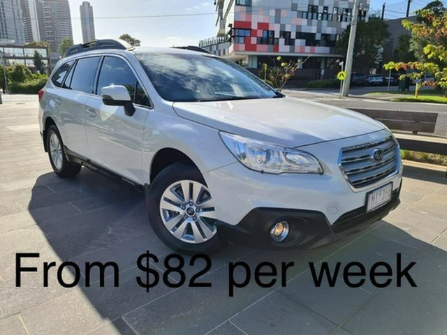 Used Subaru Outback B6A MY18 2.0D CVT AWD South Melbourne, 2018 Subaru Outback B6A MY18 2.0D CVT AWD White 7 Speed Constant Variable Wagon