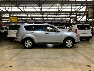 2010 Mitsubishi Outlander ZH MY10 LS Silver 6 Speed Constant Variable Wagon