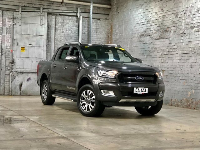 Used Ford Ranger PX MkII 2018.00MY Wildtrak Double Cab Mile End South, 2018 Ford Ranger PX MkII 2018.00MY Wildtrak Double Cab Grey 6 Speed Sports Automatic Utility