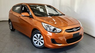 2016 Hyundai Accent RB4 MY16 Active Orange 6 Speed Constant Variable Hatchback.