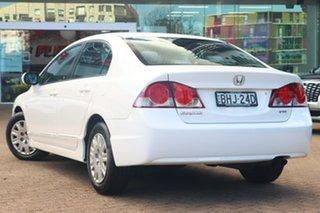 2008 Honda Civic MY08 VTi White 5 Speed Automatic Sedan.