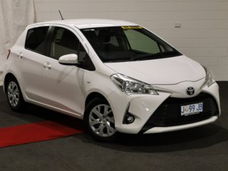 2017 Toyota Yaris NCP131R SX White 4 Speed Automatic Hatchback.