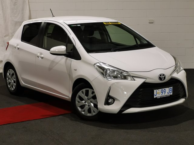 Used Toyota Yaris NCP131R SX Glenorchy, 2017 Toyota Yaris NCP131R SX White 4 Speed Automatic Hatchback