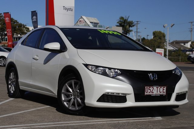 Pre-Owned Honda Civic 9th Gen MY13 VTi-S Albion, 2013 Honda Civic 9th Gen MY13 VTi-S White 5 Speed Sports Automatic Hatchback