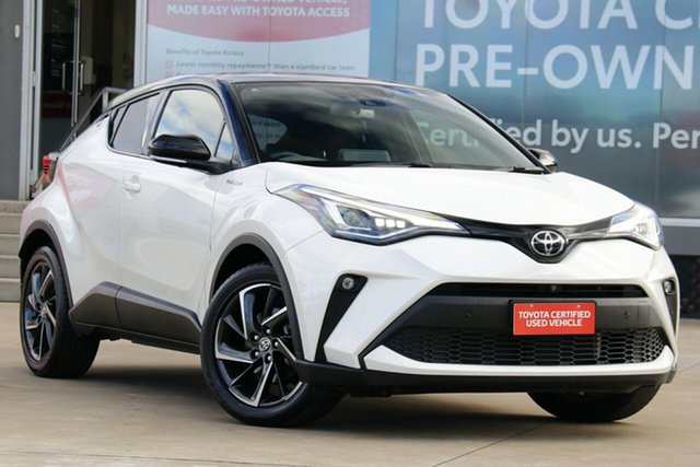 Pre-Owned Toyota C-HR NGX10R Koba S-CVT 2WD Guildford, 2020 Toyota C-HR NGX10R Koba S-CVT 2WD Crystal Pearl & Black Roof 7 Speed Constant Variable Wagon