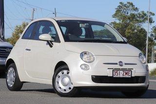 2014 Fiat 500 Series 1 Pop Dualogic Funk White 5 Speed Sports Automatic Single Clutch Hatchback.
