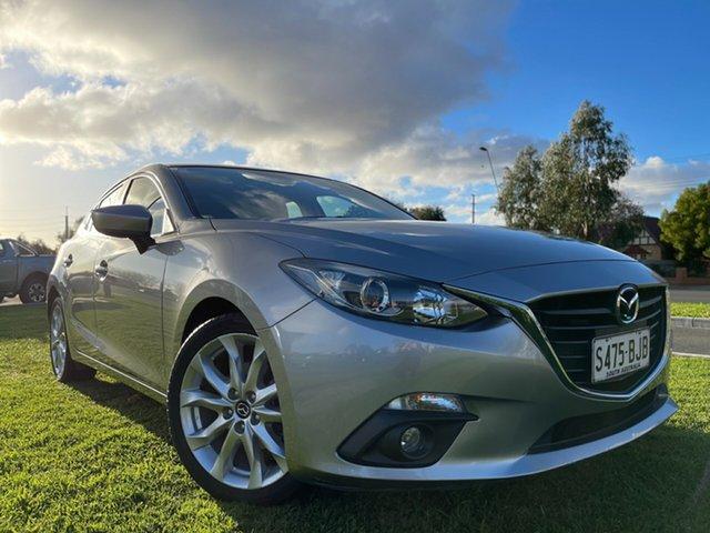 Used Mazda 3 BM5438 SP25 SKYACTIV-Drive Hindmarsh, 2015 Mazda 3 BM5438 SP25 SKYACTIV-Drive Silver 6 Speed Sports Automatic Hatchback