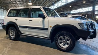 2004 Nissan Patrol GU III MY2003 ST White 4 Speed Automatic Wagon.