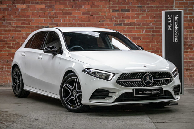 Certified Pre-Owned Mercedes-Benz A-Class A180 DCT Mulgrave, 2020 Mercedes-Benz A-Class A180 DCT Polar White 7 Speed Sports Automatic Dual Clutch Hatchback