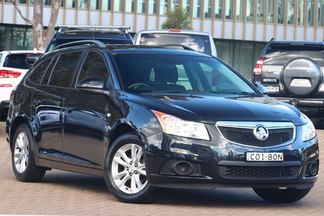 Used Holden Cruze JH Series II MY13 CD Sportwagon Zetland, 2012 Holden Cruze JH Series II MY13 CD Sportwagon Black 6 Speed Sports Automatic Wagon