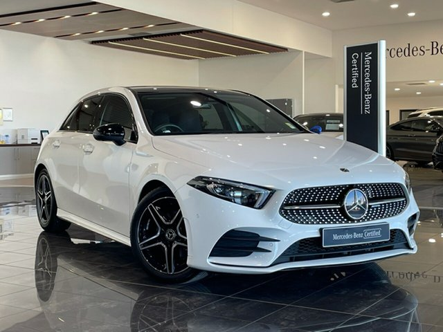 Used Mercedes-Benz A-Class W177 A180 DCT Maryborough, 2019 Mercedes-Benz A-Class W177 A180 DCT White 7 Speed Sports Automatic Dual Clutch Hatchback