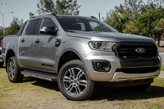 2020 Ford Ranger PX MkIII 2021.25MY Wildtrak Silver 6 Speed Sports Automatic Double Cab Pick Up.