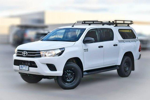 Used Toyota Hilux GUN136R SR Double Cab 4x2 Hi-Rider Pakenham, 2017 Toyota Hilux GUN136R SR Double Cab 4x2 Hi-Rider White 6 Speed Manual Utility