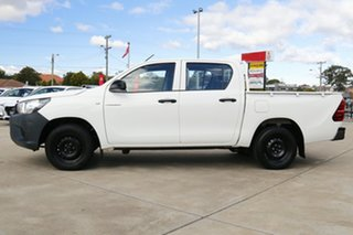 2017 Toyota Hilux TGN121R Workmate Double Cab 4x2 Glacier White 6 Speed Sports Automatic Utility