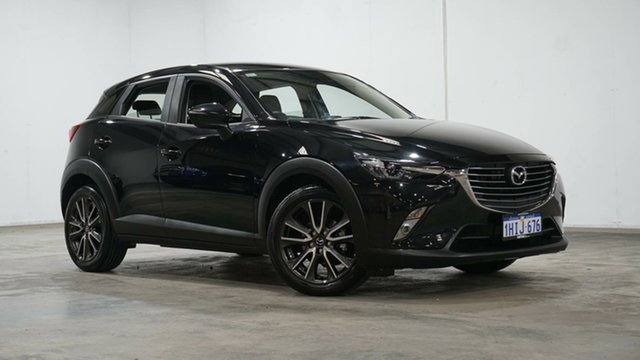 Used Mazda CX-3 DK2W7A sTouring SKYACTIV-Drive Welshpool, 2015 Mazda CX-3 DK2W7A sTouring SKYACTIV-Drive Black 6 Speed Sports Automatic Wagon