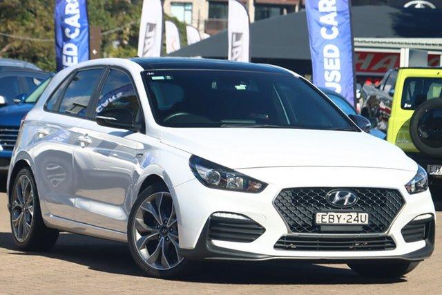 Used Hyundai i30 PD.3 MY20 N Line (Sunroof) Rosebery, 2019 Hyundai i30 PD.3 MY20 N Line (Sunroof) White 7 Speed Auto Dual Clutch Hatchback